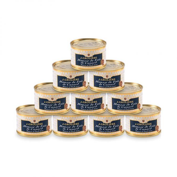 FOIE GRAS GROLIERE - 10 Mousses de Foie de Canard + 1 Offerte - Crème, mousse - 0.715