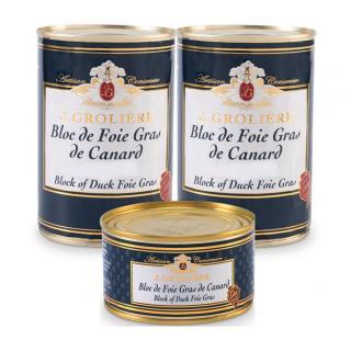 FOIE GRAS GROLIERE - 2 Blocs de Foie Gras de Canard 400g + 1 Boite de 130g Offerte - Foie gras - 0.930