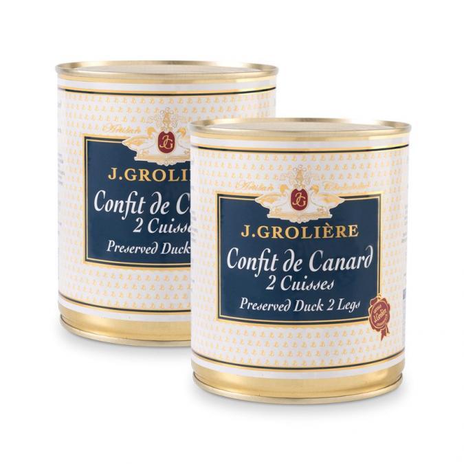FOIE GRAS GROLIERE - 2 Confits de Canard - Confit de canard