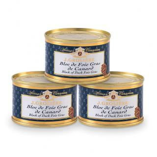 FOIE GRAS GROLIERE - 3 Blocs de Foie Gras de Canard 65 g - Foie gras - 0.195