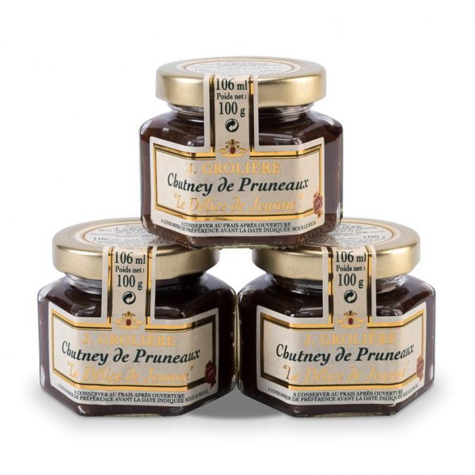 FOIE GRAS GROLIERE - 3 Chutney de Pruneaux - Chutney