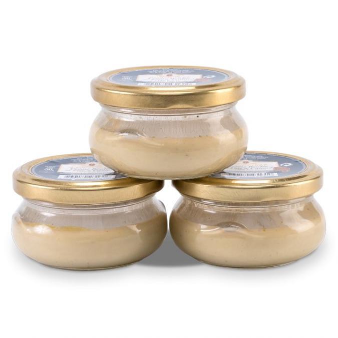 FOIE GRAS GROLIERE - 3 Crèmes Brulées au Foie de Canard - Crème, mousse - 0.150