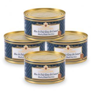 FOIE GRAS GROLIERE - 4 Blocs de Foie Gras de Canard 130 g - Foie gras - 0.520