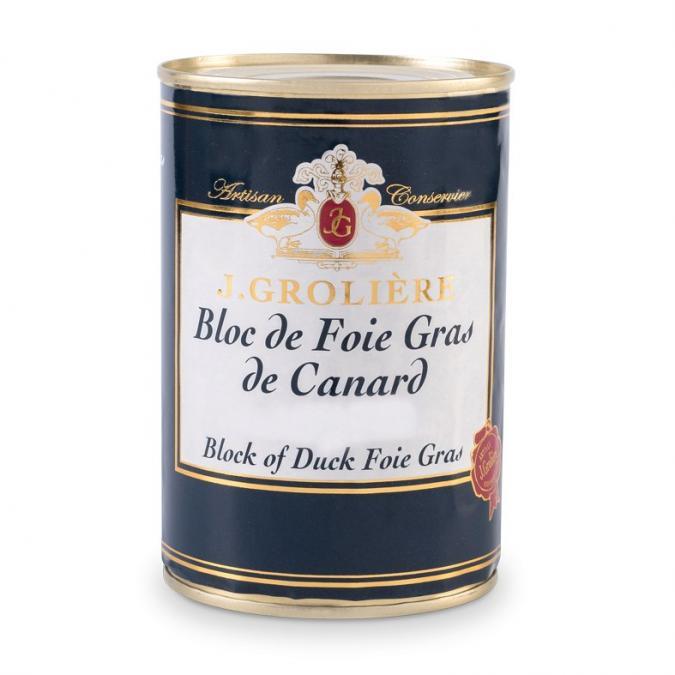 FOIE GRAS GROLIERE - Bloc de Foie Gras de Canard - 400 gr - Foie gras - 0.400