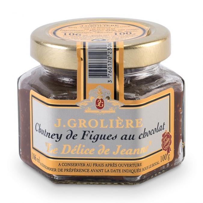 FOIE GRAS GROLIERE - Chutney de Figues au Chocolat - Chutney