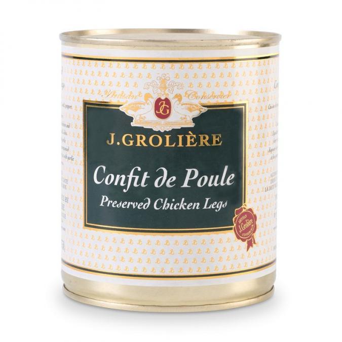 FOIE GRAS GROLIERE - Confit de Poule - confit de poule
