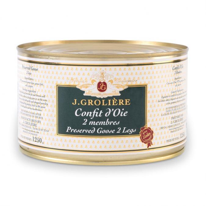FOIE GRAS GROLIERE - Confit d'Oie - confit d'oie