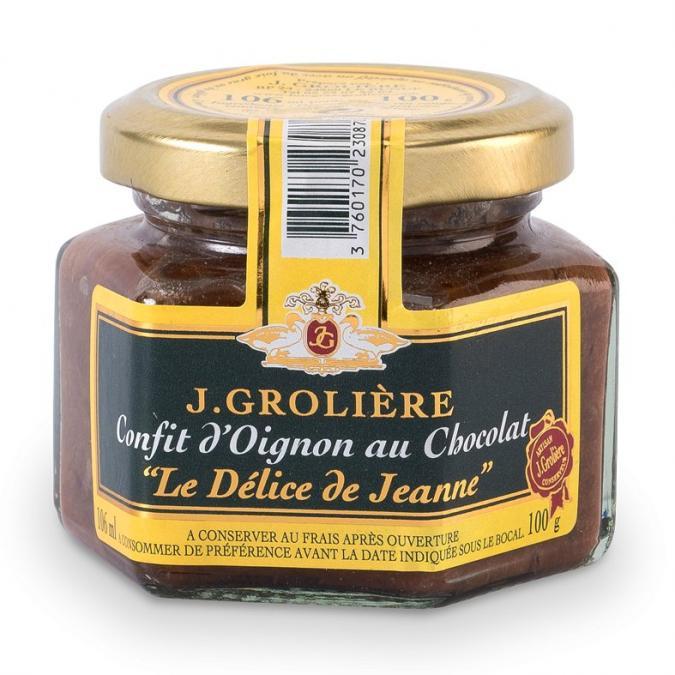 FOIE GRAS GROLIERE - Confit d'Oignon au Chocolat - Confit d'oignon