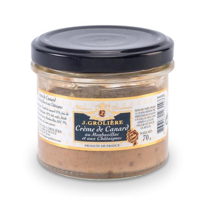 FOIE GRAS GROLIERE - Crème de Canard au Monbazillac et aux Châtaignes en verrine - Crème, mousse - 0.07