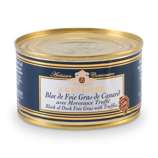 FOIE GRAS GROLIERE - Foie Gras de Canard du Perigord Truffé - 130 gr - Foie gras - 0.130