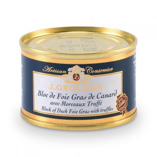 FOIE GRAS GROLIERE - Foie Gras de Canard du Perigord Truffé - 65 gr - Foie gras - 0.065