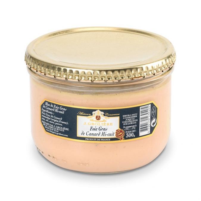 FOIE GRAS GROLIERE - Foie Gras de Canard Mi-Cuit - 300 gr - Foie gras - 0.300