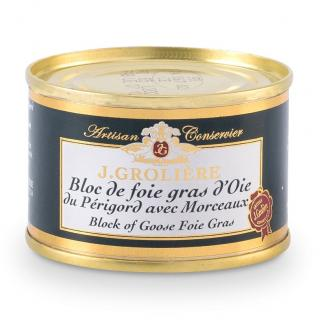 FOIE GRAS GROLIERE - Foie Gras d'Oie du Perigord - 120 gr - Foie gras - 0.120