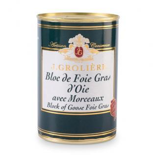 FOIE GRAS GROLIERE - Foie Gras d'Oie du Perigord - 400 gr - Foie gras - 0.400