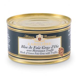 FOIE GRAS GROLIERE - Foie Gras d'Oie du Perigord Truffé - 130 gr - Foie gras - 0.130