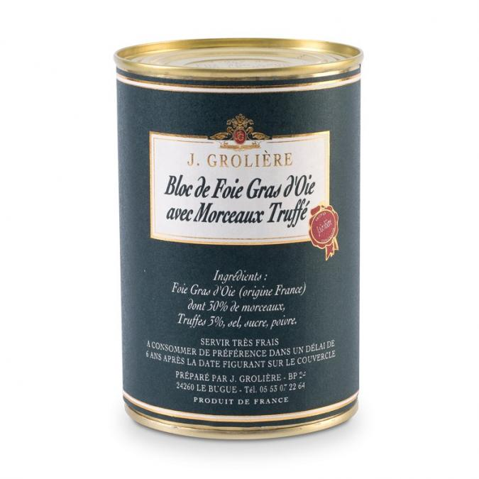 FOIE GRAS GROLIERE - Foie Gras d'Oie du Perigord Truffé - 400 gr - Foie gras - 0.400