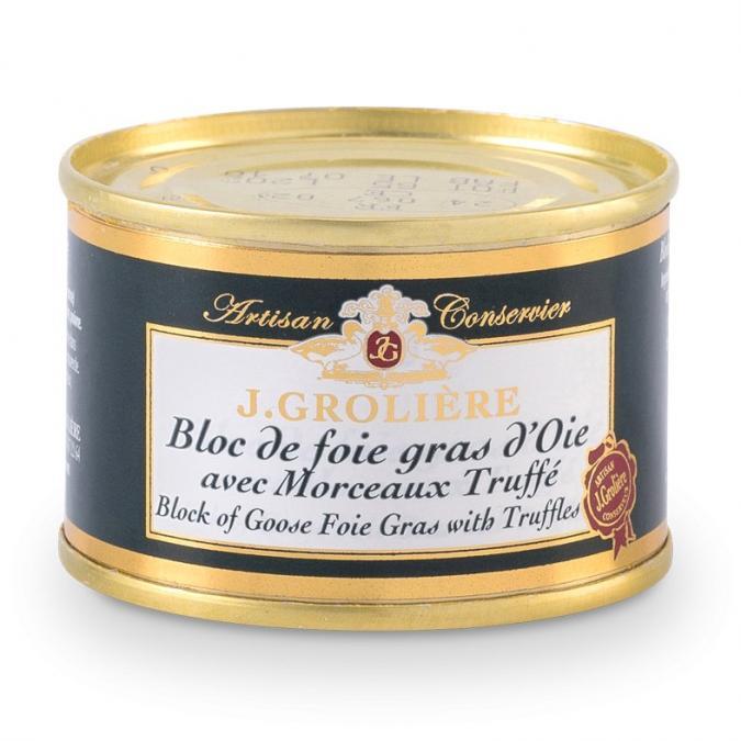 FOIE GRAS GROLIERE - Foie Gras d'Oie du Perigord Truffé - 65 gr - Foie gras - 0.065