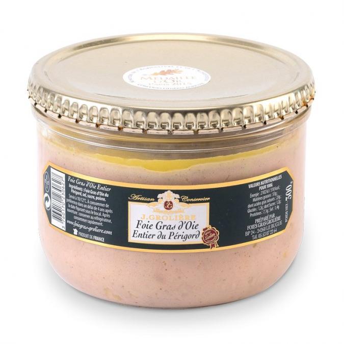 FOIE GRAS GROLIERE - Foie Gras d'Oie Entier du Périgord - 300 gr - Foie gras - 0.300