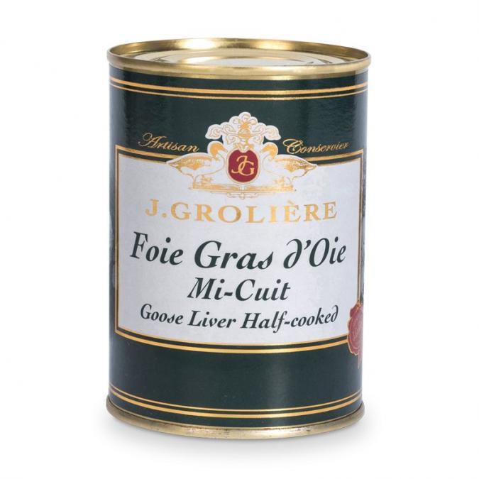 FOIE GRAS GROLIERE - Foie Gras d'Oie Mi-Cuit du Périgord - 400 gr - Foie gras - 0.400