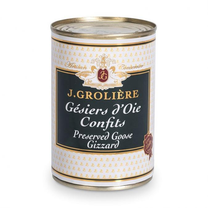 FOIE GRAS GROLIERE - Gésiers d'Oie Confits - Gésier de canard