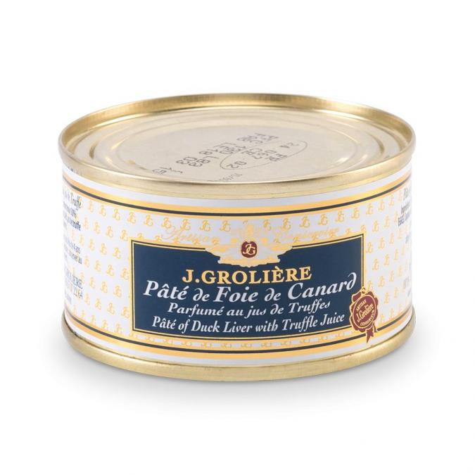 FOIE GRAS GROLIERE - Pâté de Foie de Canard Parfumé au Jus de Truffe 50% Foie Gras - Pâté - 0.13