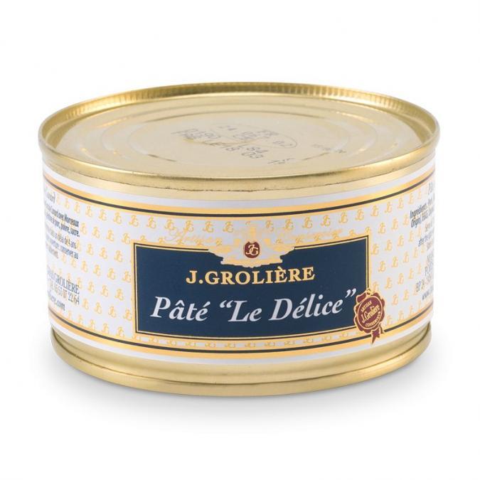 """FOIE GRAS GROLIERE - Pâté """"Le Délice"""" 25% Foie Gras - Pâté - 0.13"""