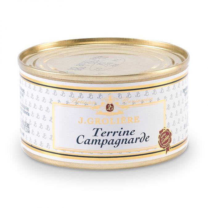 FOIE GRAS GROLIERE - Terrine Campagnarde - Terrine