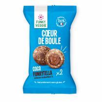 Funky Veggie - Coeur de Boule - Coco Funkytella - Biscuit et gâteau individuel - 0,044