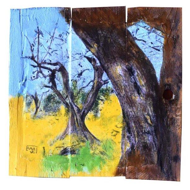 Gaia duRivau - Au premier plan, les oliviers - Tableau