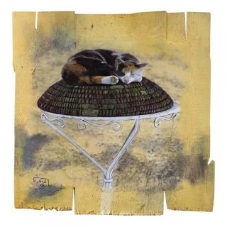 Gaia duRivau - Le chat qui dort - Tableau