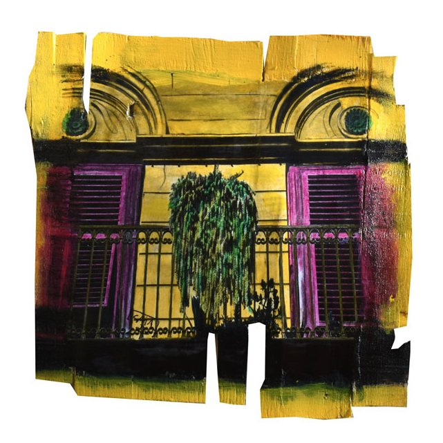 Gaia duRivau - M'lle au balcon - Tableau