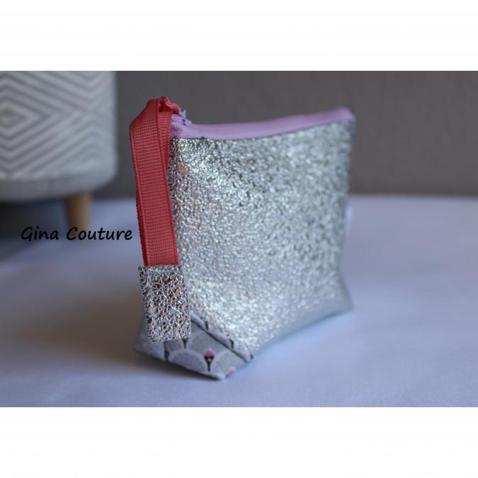 Gina couture - Porte monnaie simili argenté - Porte-monnaie - argenté