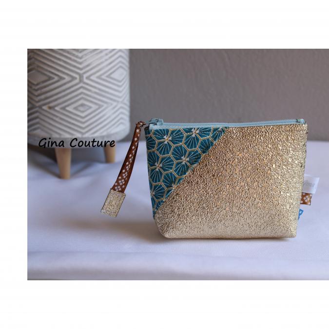 Gina couture - Porte monnaie simili doré - Porte-monnaie - doré