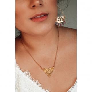 Ginandger Bijoux - Boucles d'oreilles Orphée Rubis - Boucles d'oreille - Acier