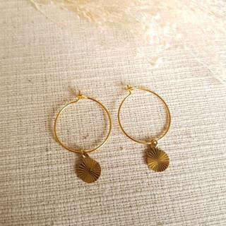 Ginandger Bijoux - Boucles d'oreilles Tyfen Rondes - Boucles d'oreille - Acier