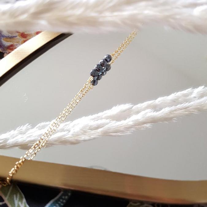 Ginandger Bijoux - Bracelet Camille Hématite - Bracelet - 4668
