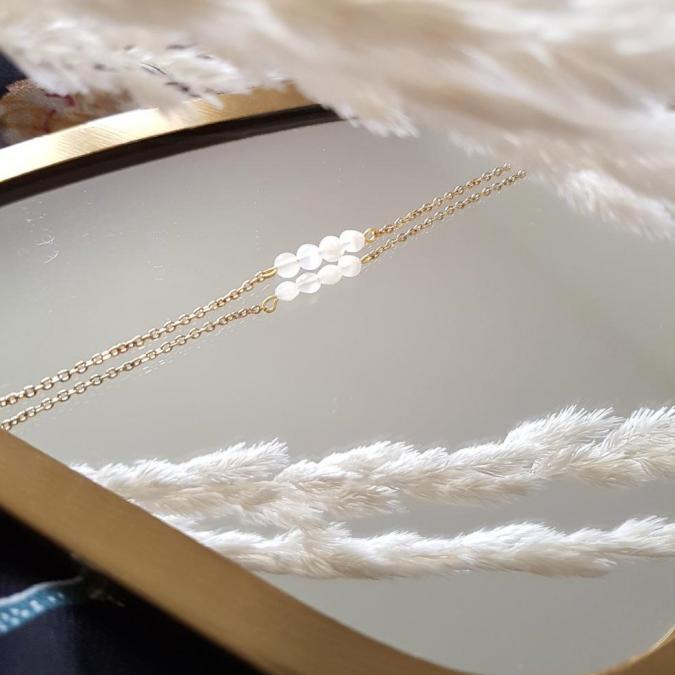 Ginandger Bijoux - Bracelet Camille Pierre de lune - Bracelet - 4668