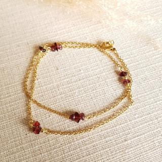 Ginandger Bijoux - Bracelet Masha Grenat - Bracelet - Acier