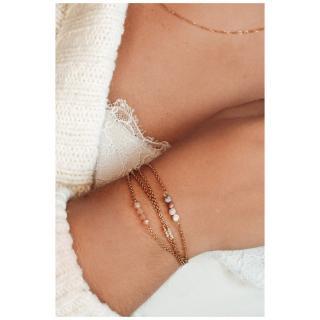Ginandger Bijoux - Bracelet Masha Morganites - Bracelet - Acier