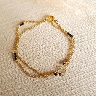 Ginandger Bijoux - Bracelet Masha Pierres de Soleil - Bracelet - Acier