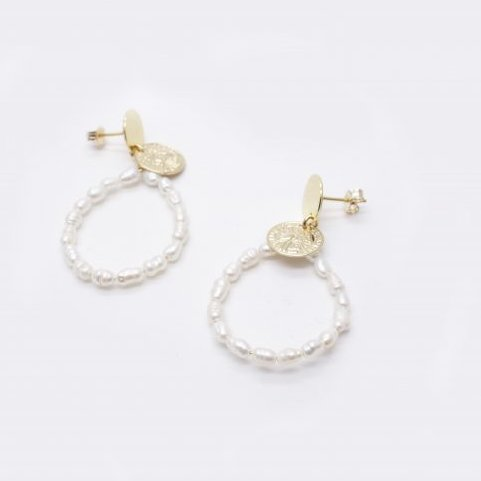 GISEL B - BOUCLES PERLES KATE - Boucles d'oreille - Or