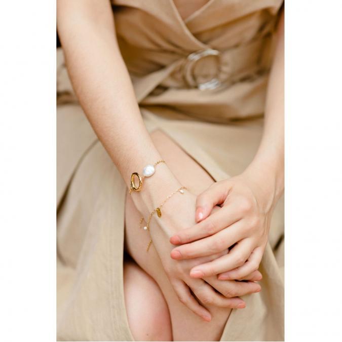 GISEL B - BRACELET CHAINE KATE - Bracelet - Plaqué Or