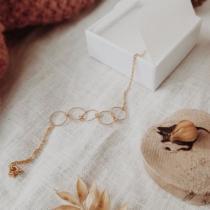 GISEL B - Bracelet Josy avec ses anneaux diamantés - Bracelet - Plaqué Or