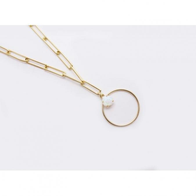 GISEL B - COLLIER LONG OPALE - Collier - Plaqué Or