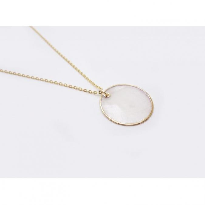 GISEL B - COLLIER NACRE - Collier - Plaqué Or