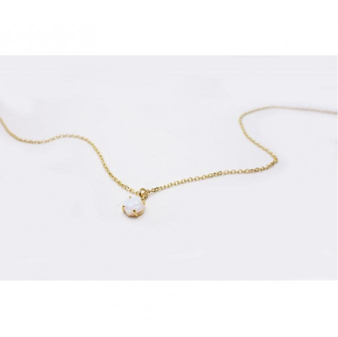 GISEL B - COLLIER PENDANT OPALE - Collier - Or