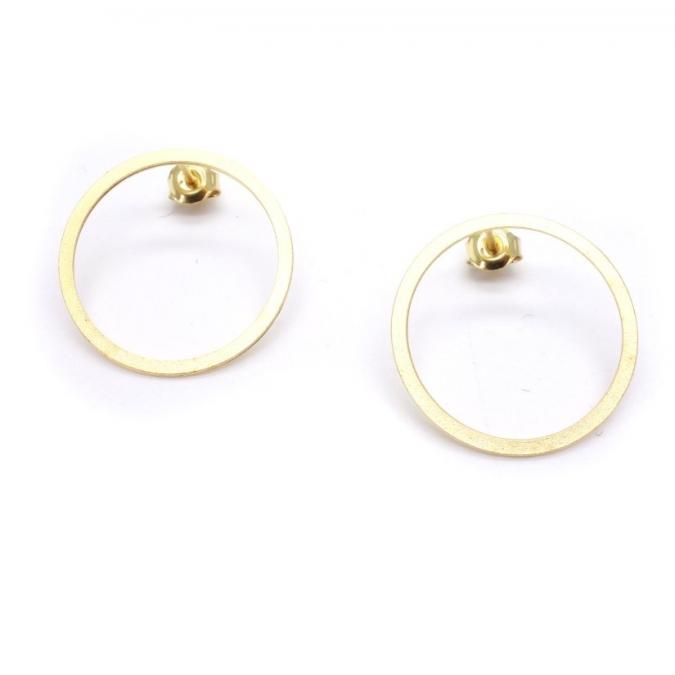 GISEL B - Puces d'oreilles Joséphine dorées mat - Boucles d'oreille - Plaqué Or