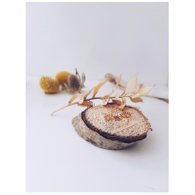 GISEL B - PUCES JANIS OEIL - Boucles d'oreille - Or