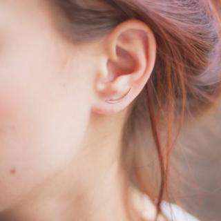 GISEL B - Puces Maï croissant - Boucles d'oreille - Plaqué Or