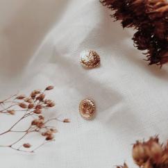 GISEL B - Puces Rosa - Boucles d'oreille - Plaqué Or
